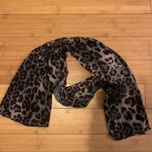 Purple Cheetah Print Scarf